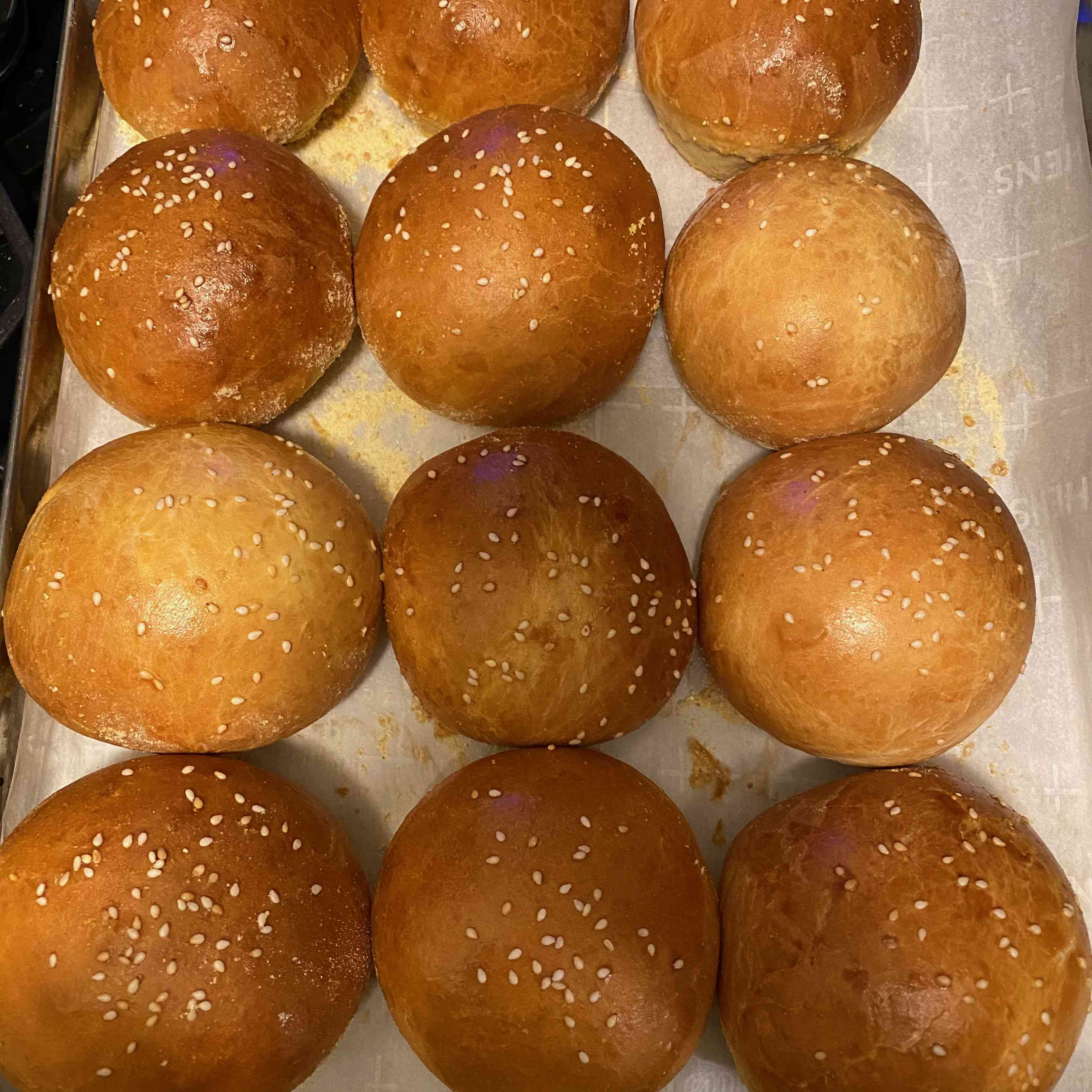 Buttery Brichoe Hamburger Buns Tester Image