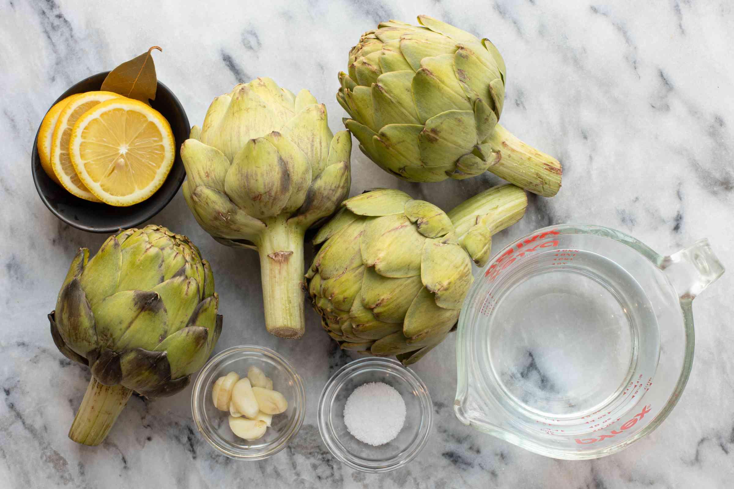 Ingredients for Instant Pot artichokes