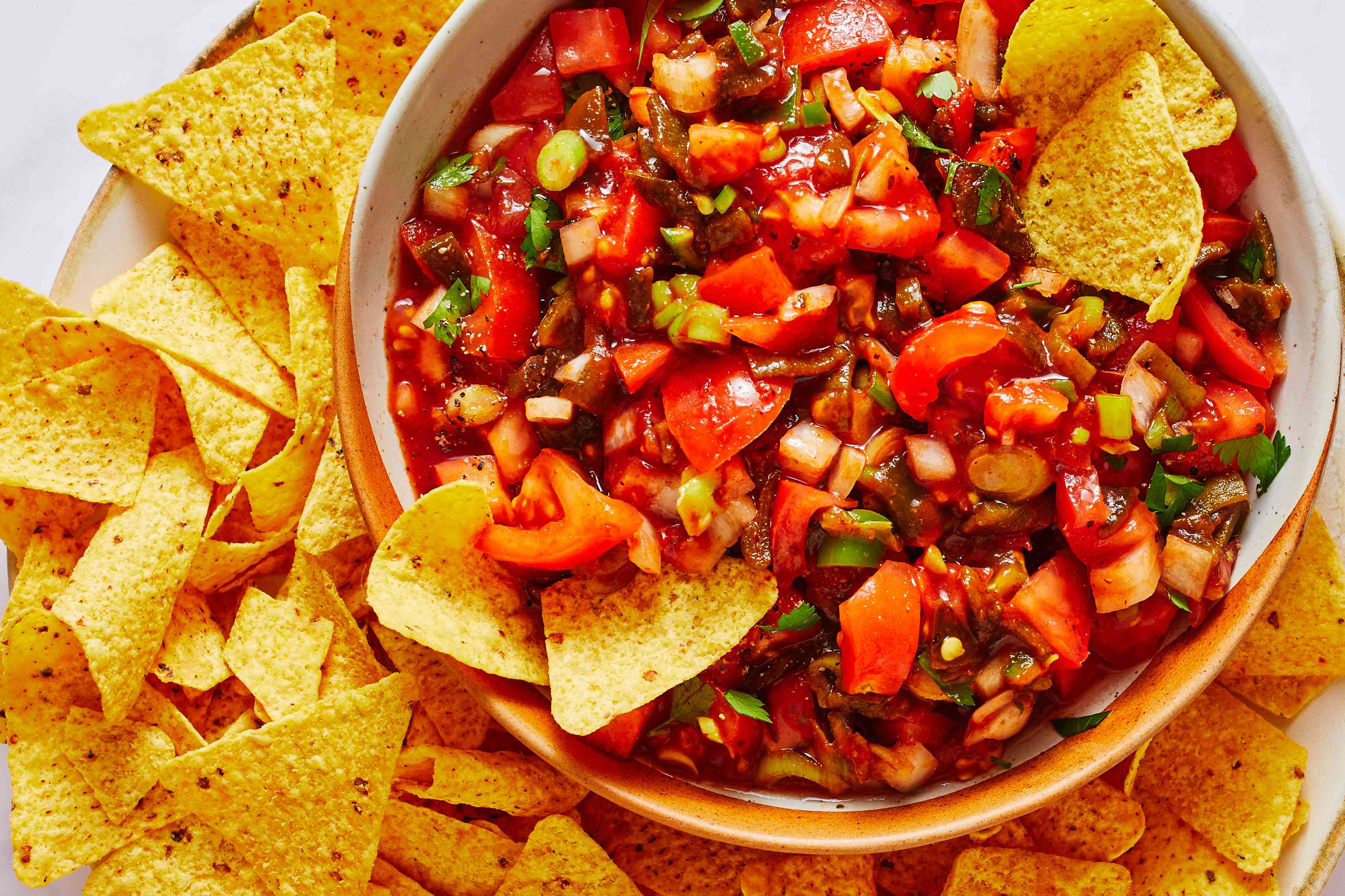Chunky Homemade Salsa in a bowl