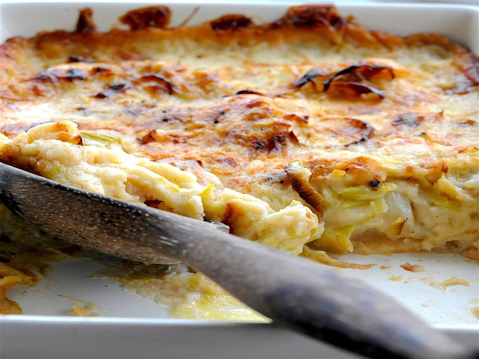 Cauliflower leeks and cheese