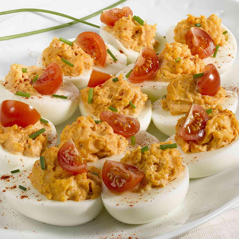Delicious Deviled Eggs With Tuna and Tomato Recipe