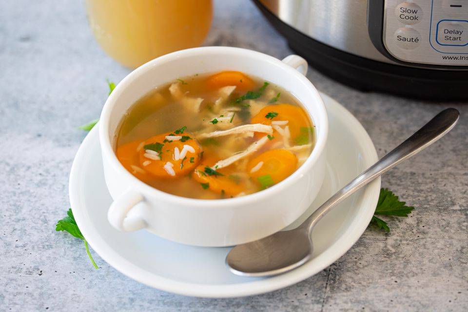 instant pot stock in soup
