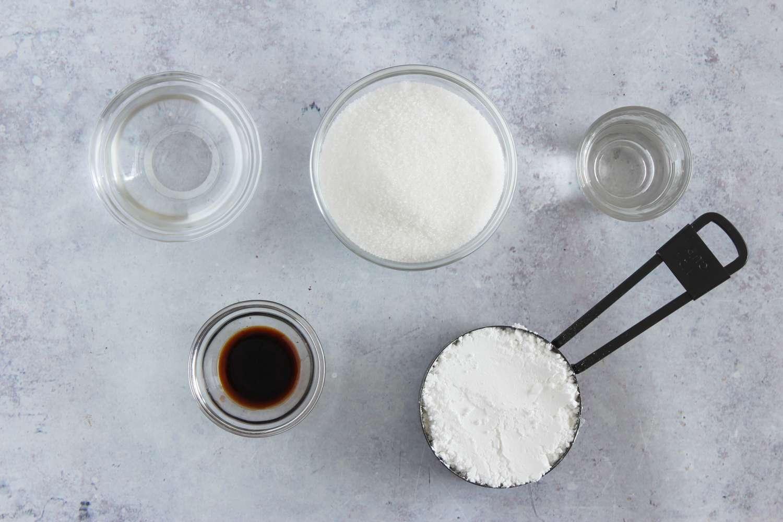 Ingredients for glaze