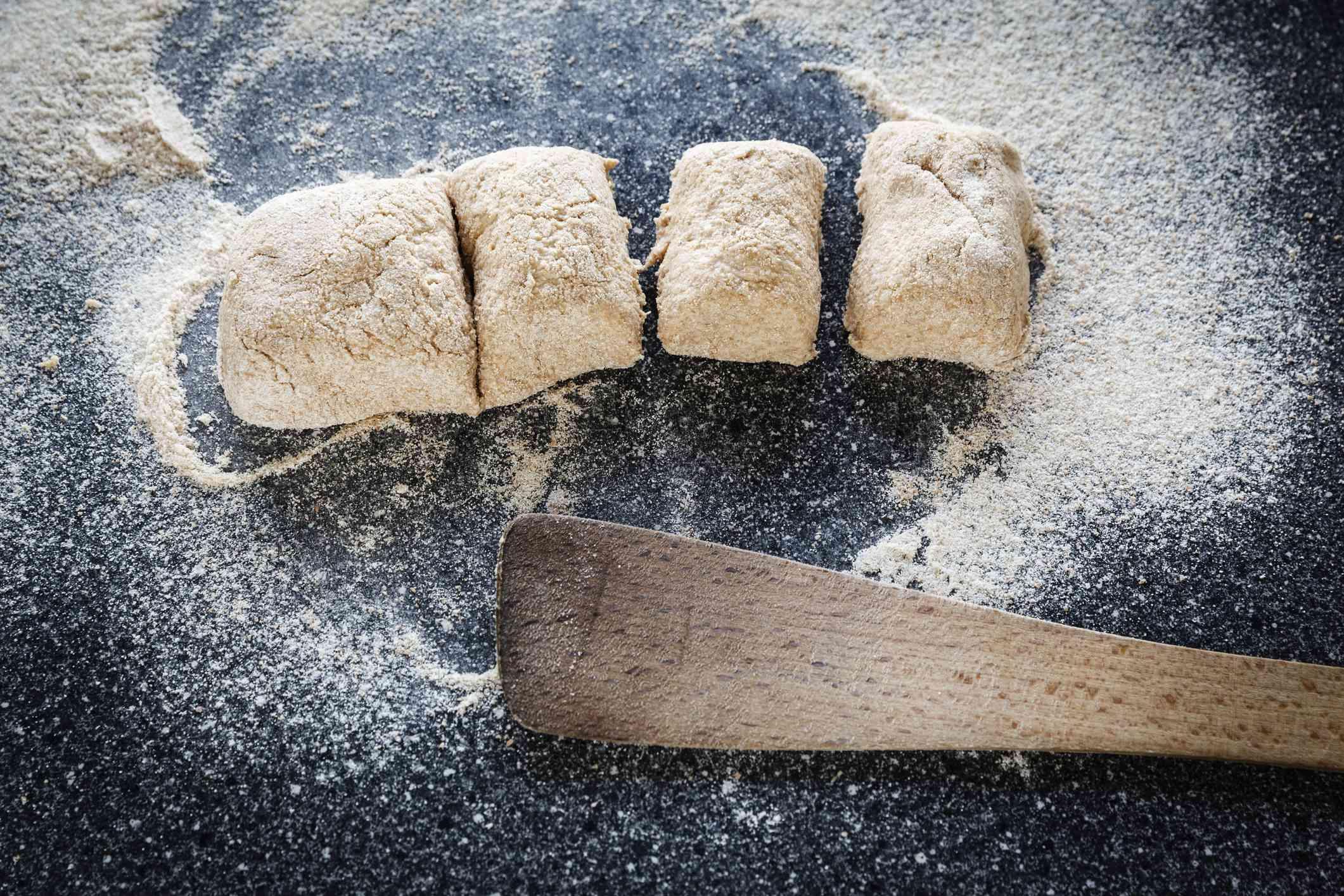 Spelt flour bread