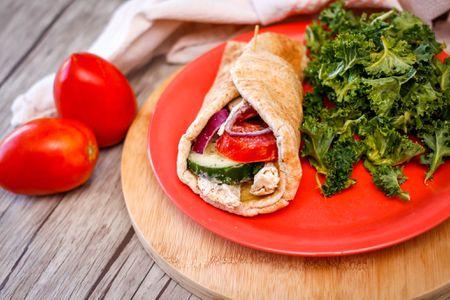 Middle Eastern Chicken Shawarma Pita Sandwich Recipe