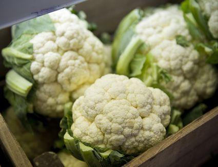 Box of cauliflowers