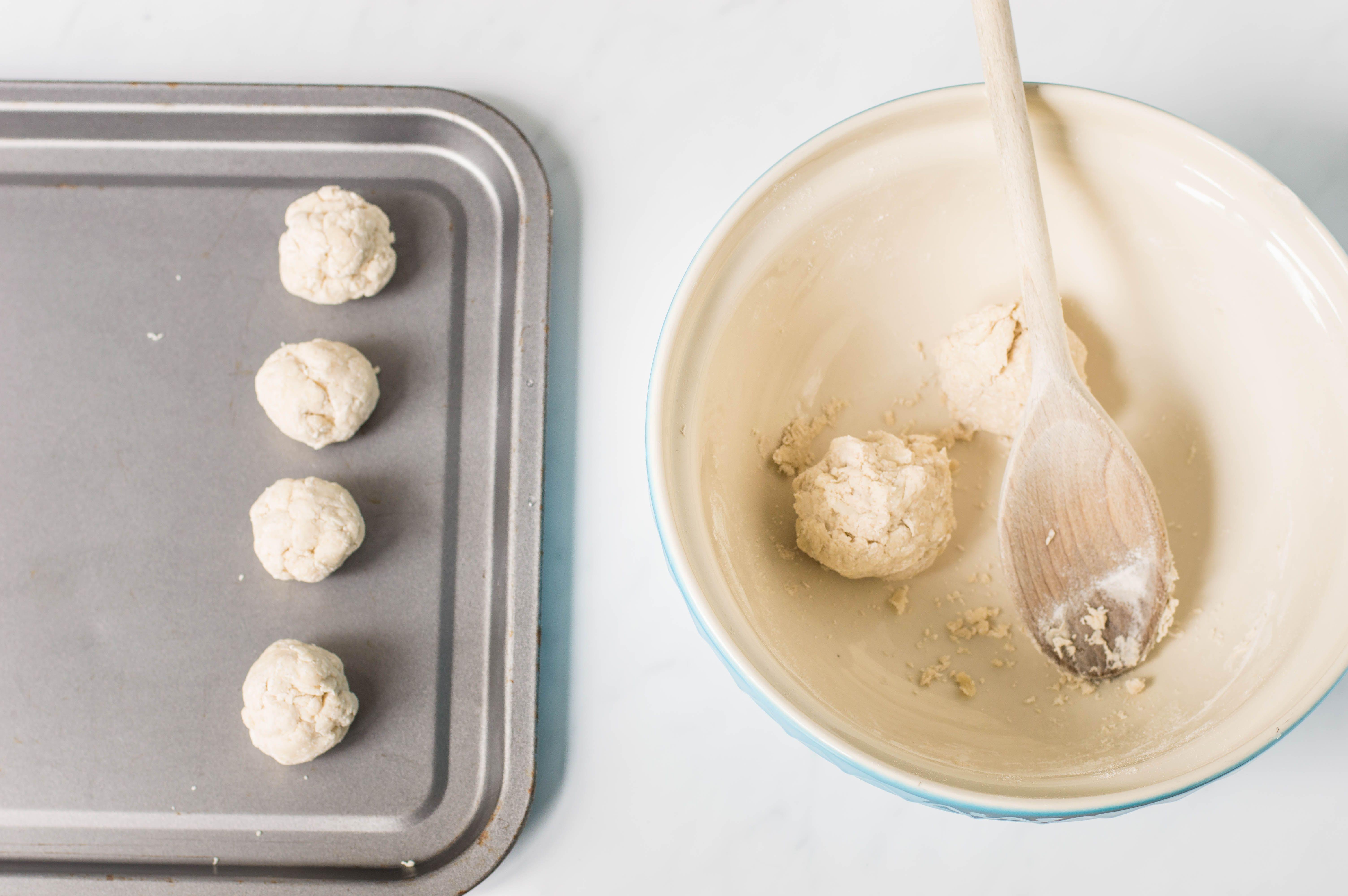 Making suet dumplings