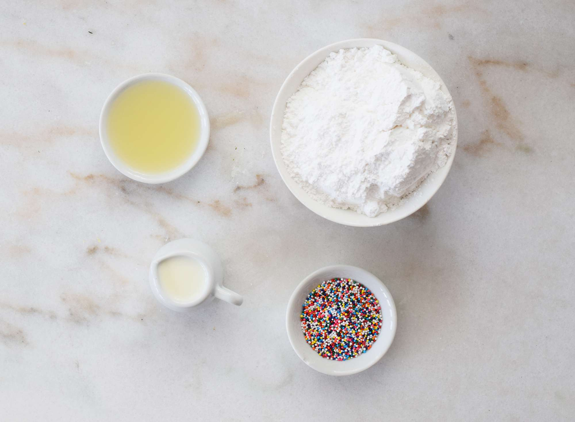 ingredients for Italian Easter cookie glaze