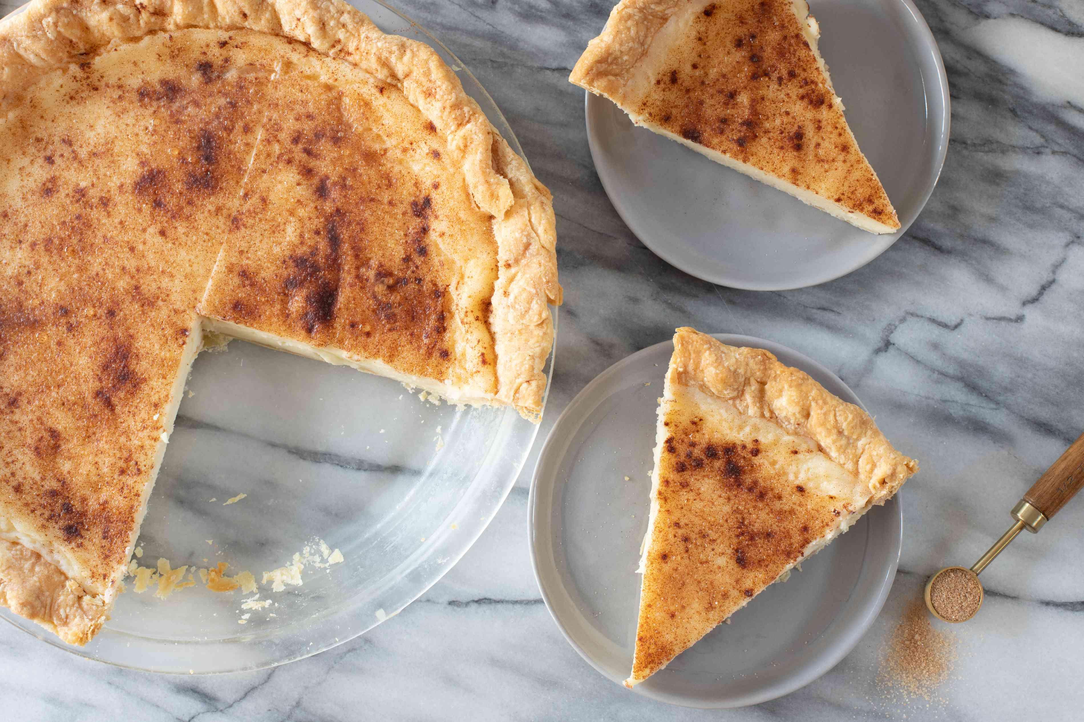 slices of sugar cream pie