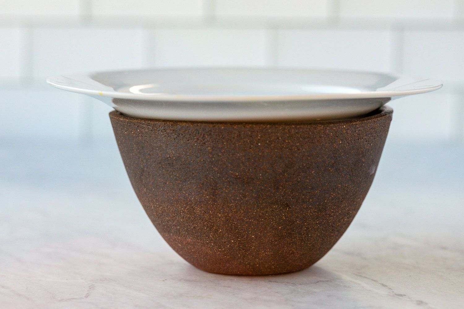cover the bowl with a plate