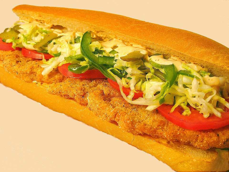 Cajun Perch Po Boy Sandwich