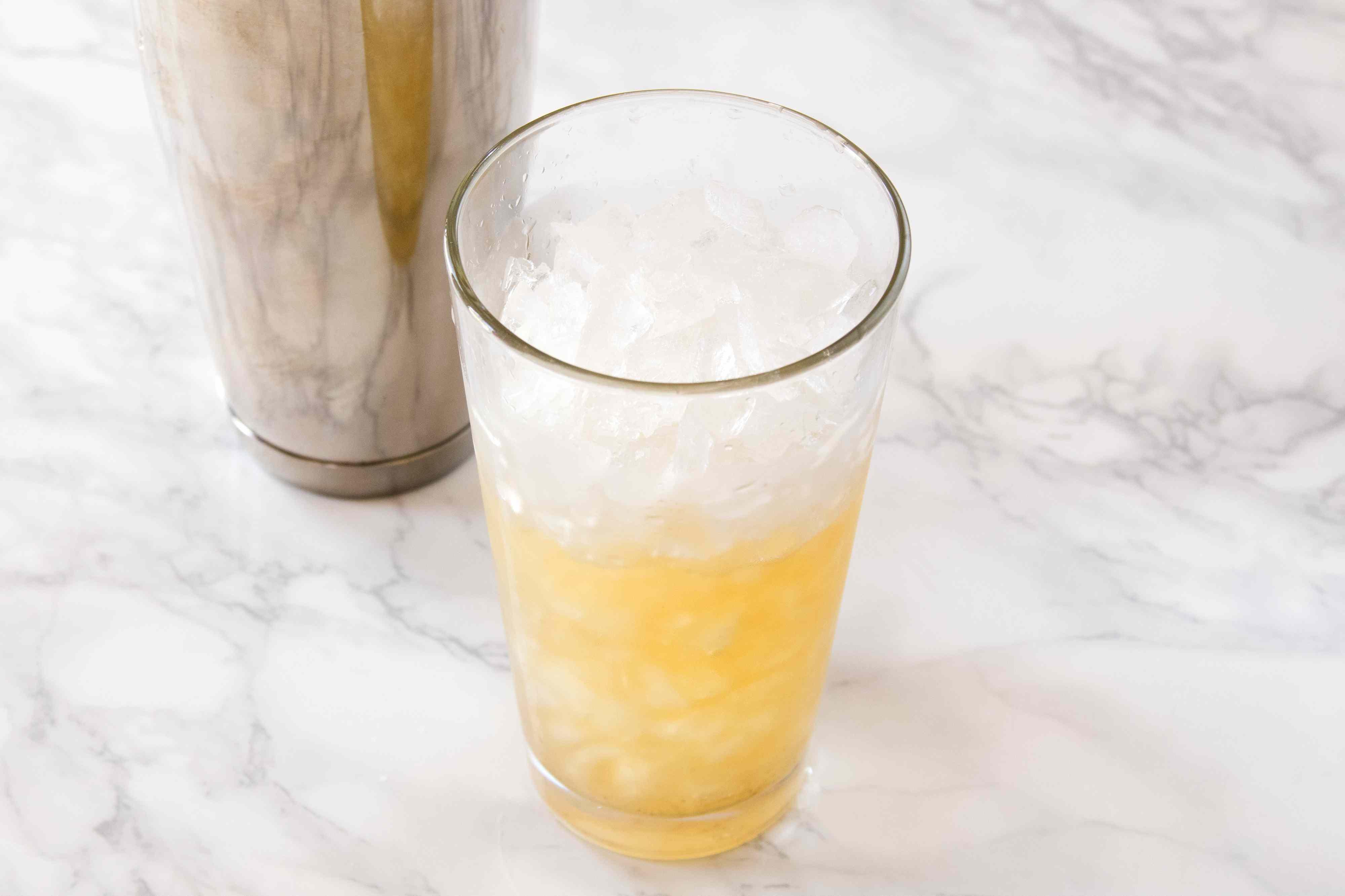 Making a Mai Tai Cocktail