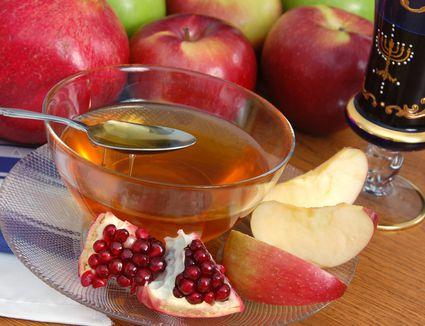 Apples, honey, and pomegranate for Rosh Hashana