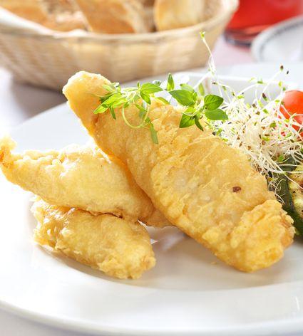 Tempura fish with vegetables
