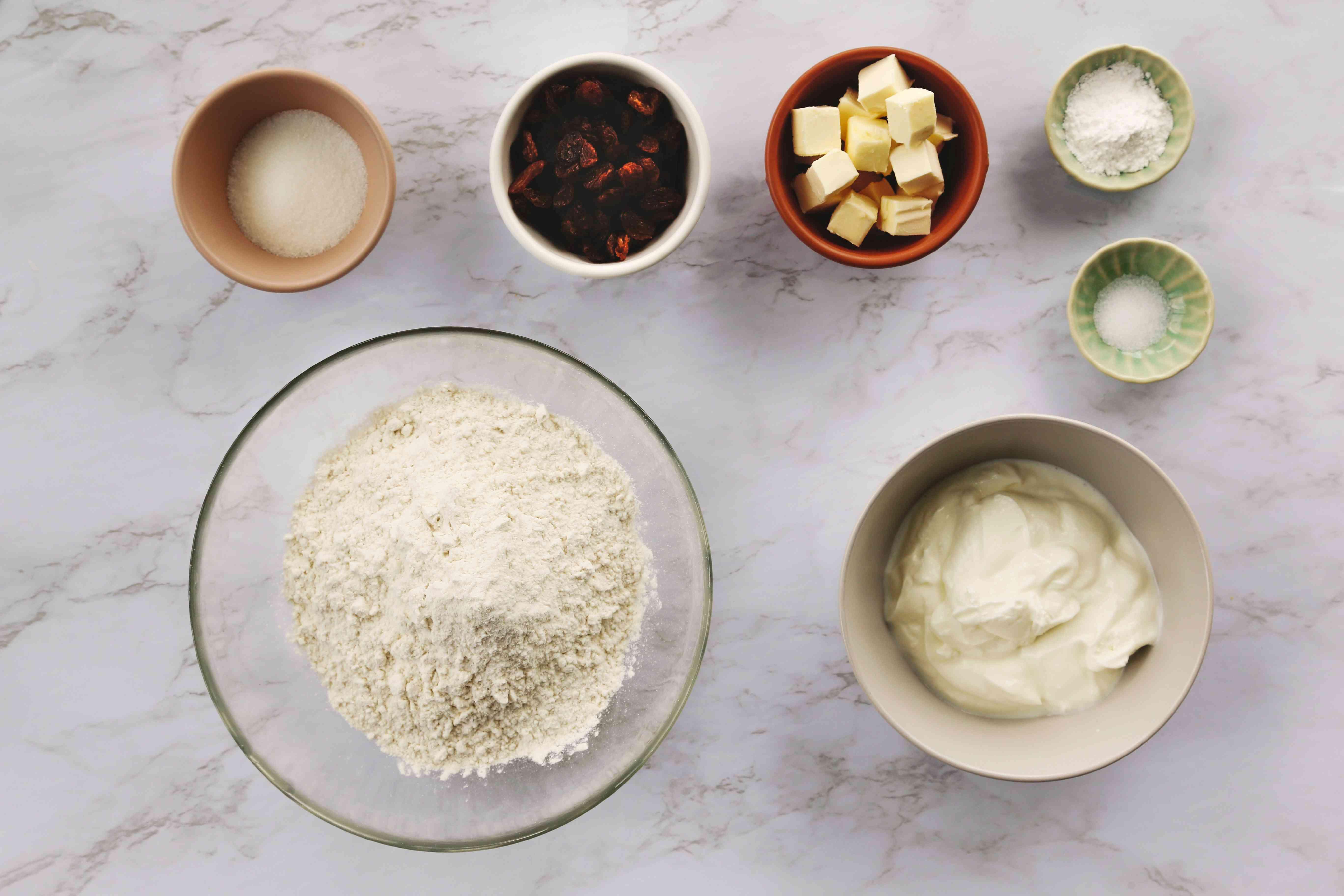 Yogurt Scones ingredients
