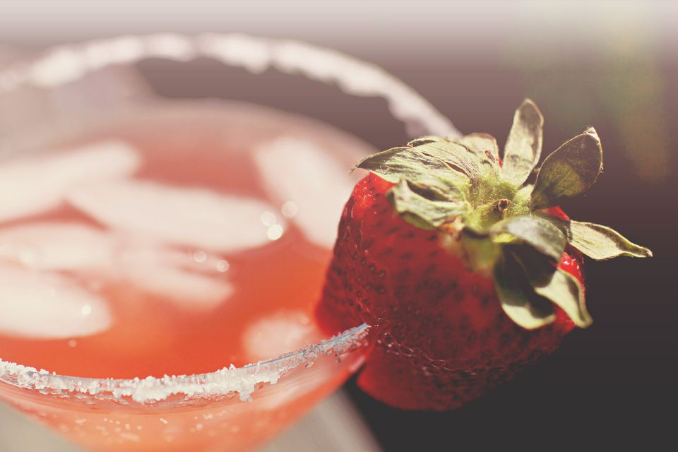 Strawberry Vodka Champagne Cocktail