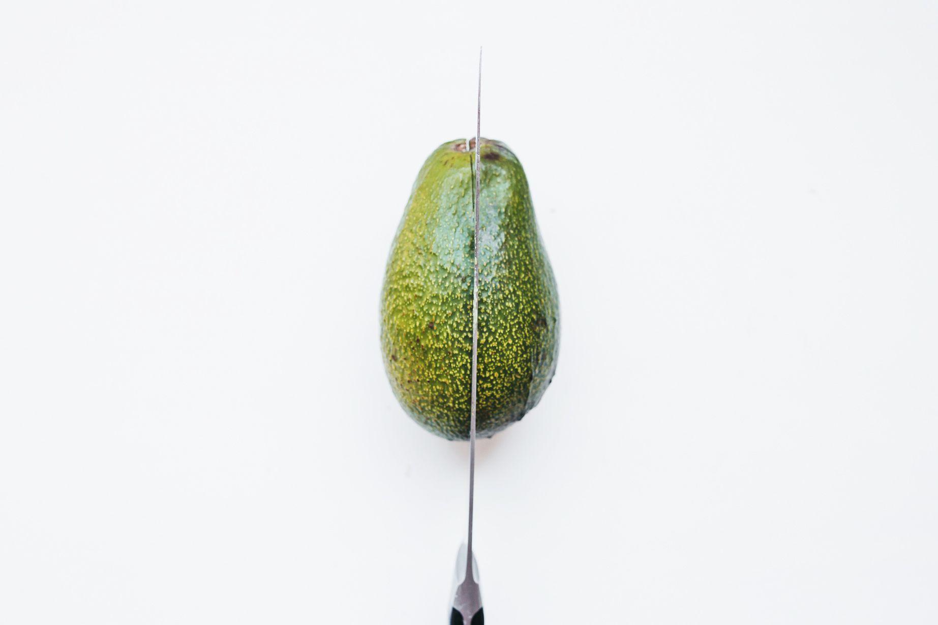 Cut the avocado