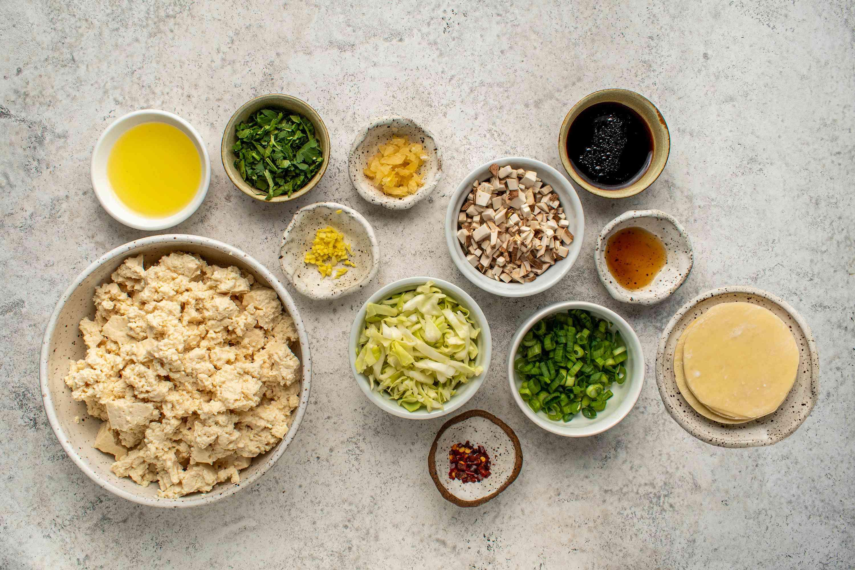 Vegan Potstickers With Mushroom and Tofu ingredients
