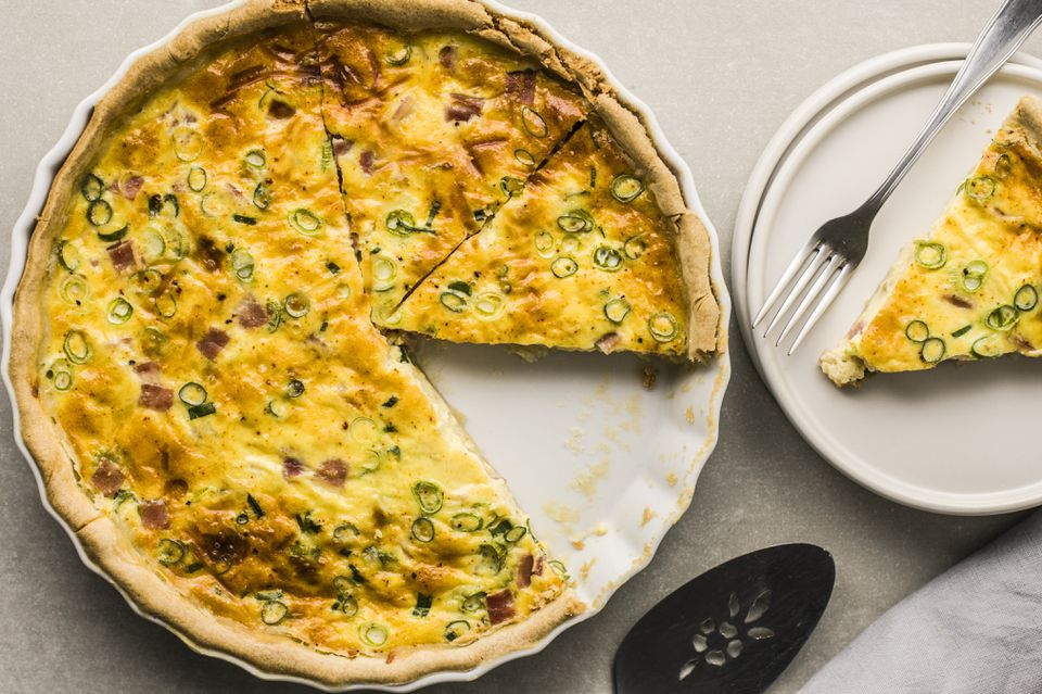 Easy ham and swiss cheese quiche
