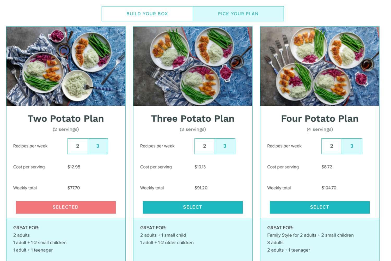 One Potato ordering