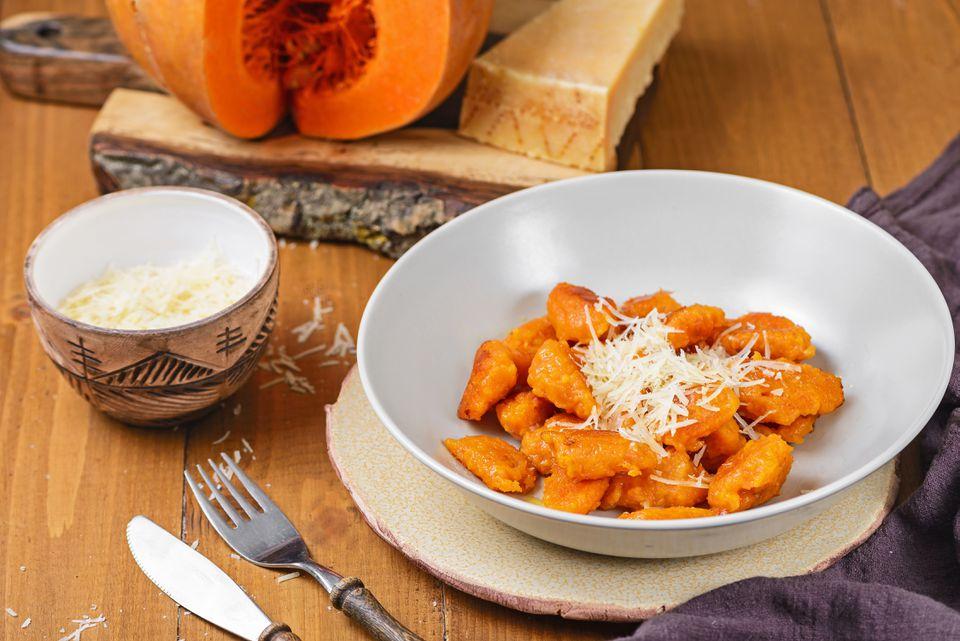 Easy vegetarian pumpkin dumplings