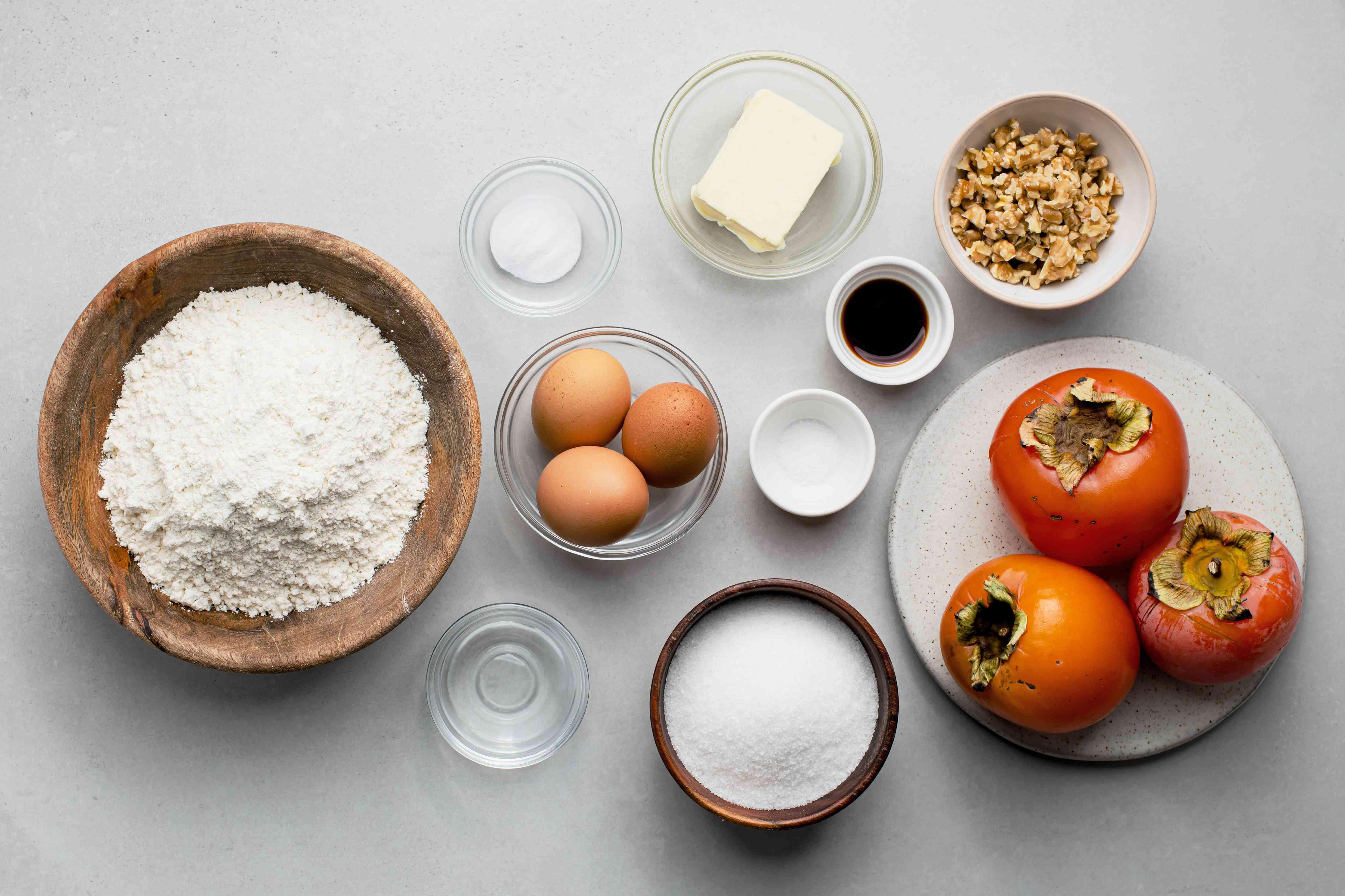 Easy Persimmon Quick Bread ingredients