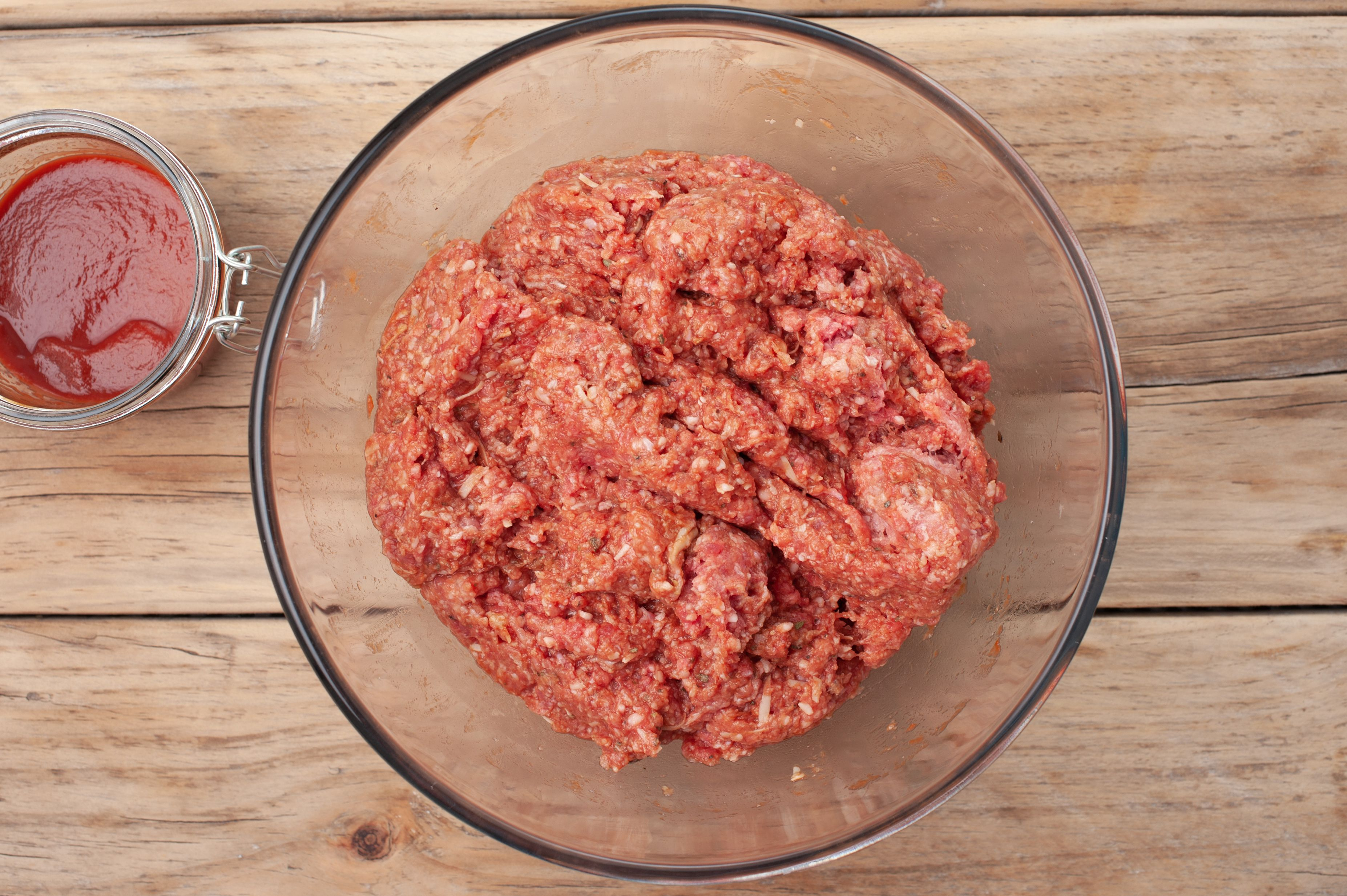 Combine ground beef