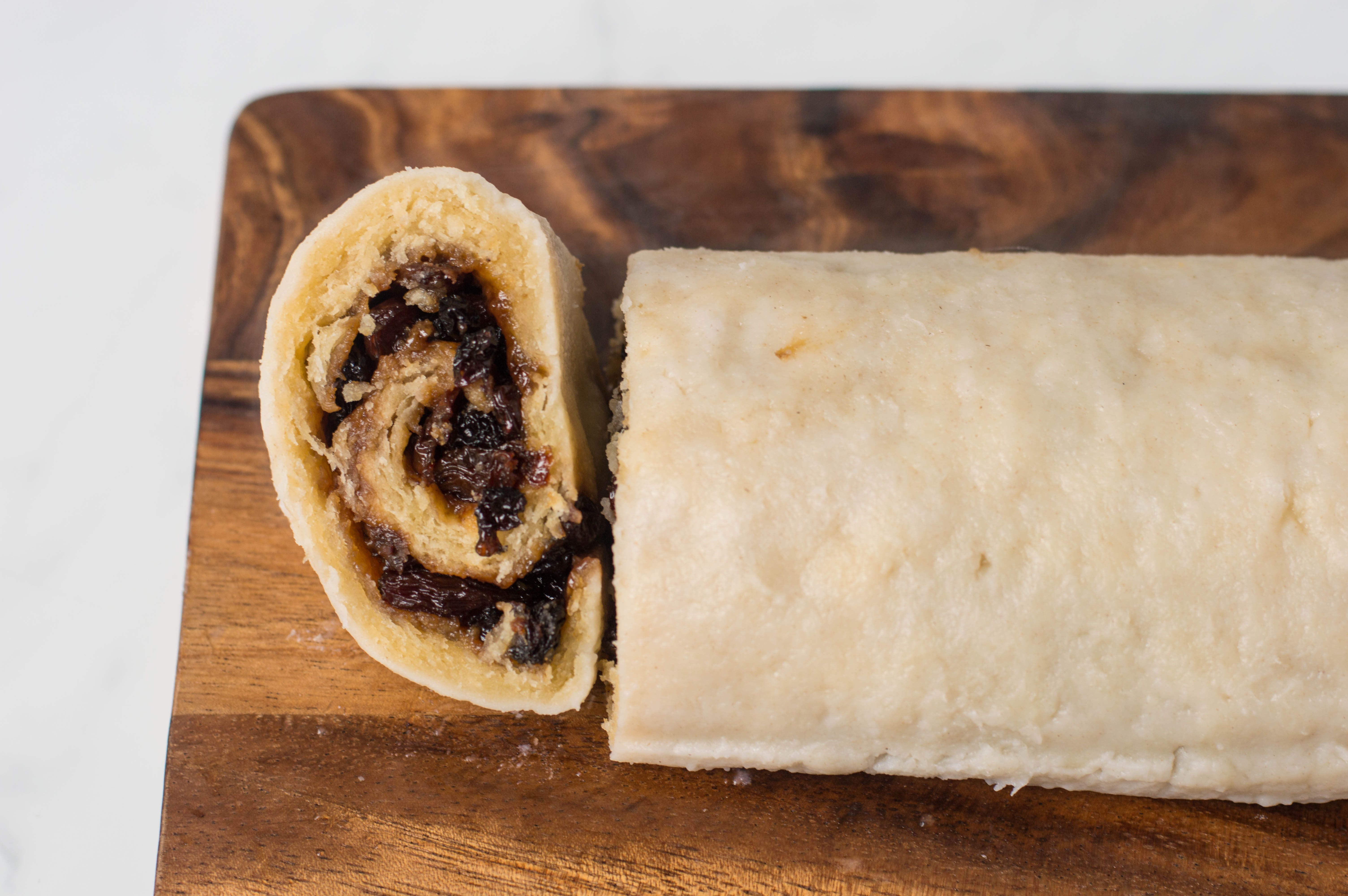 Sliced Spotted Dick roll
