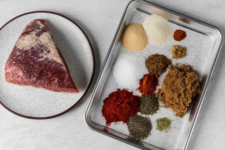 Authentic Texas-Style Brisket Dry Rub ingredients