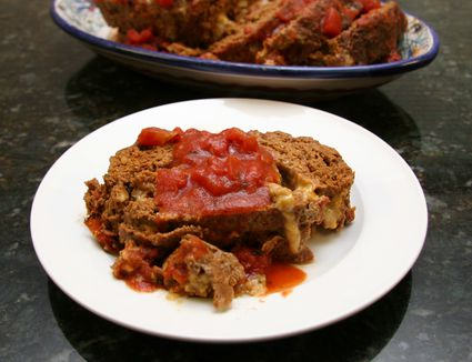 Beef, sausage, and Parmesan cheese meatloaf