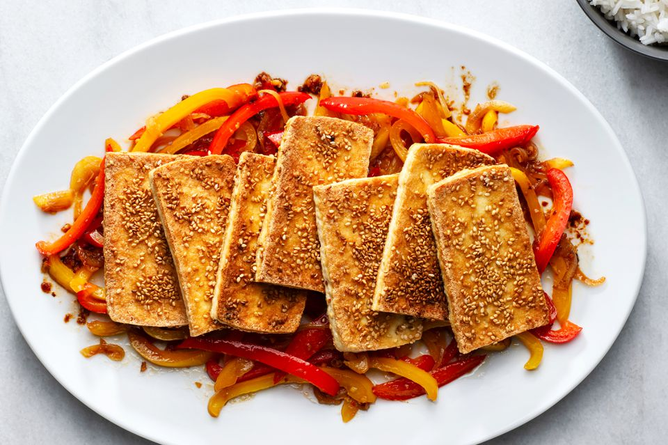 Crispy Sesame Tofu With Vegetables