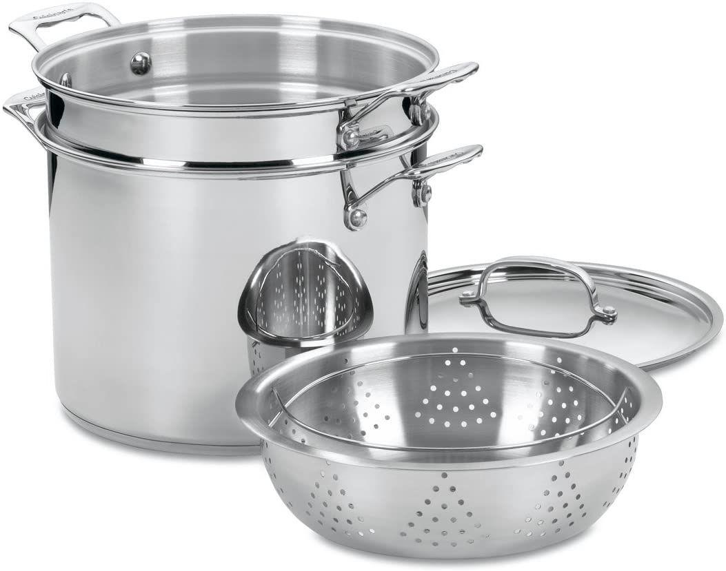 Cuisinart Chef's Classic Stainless 4-Piece 12-Quart Pasta/Steamer Set 77-412