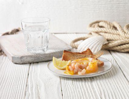 Potted shrimp, a British appetizer