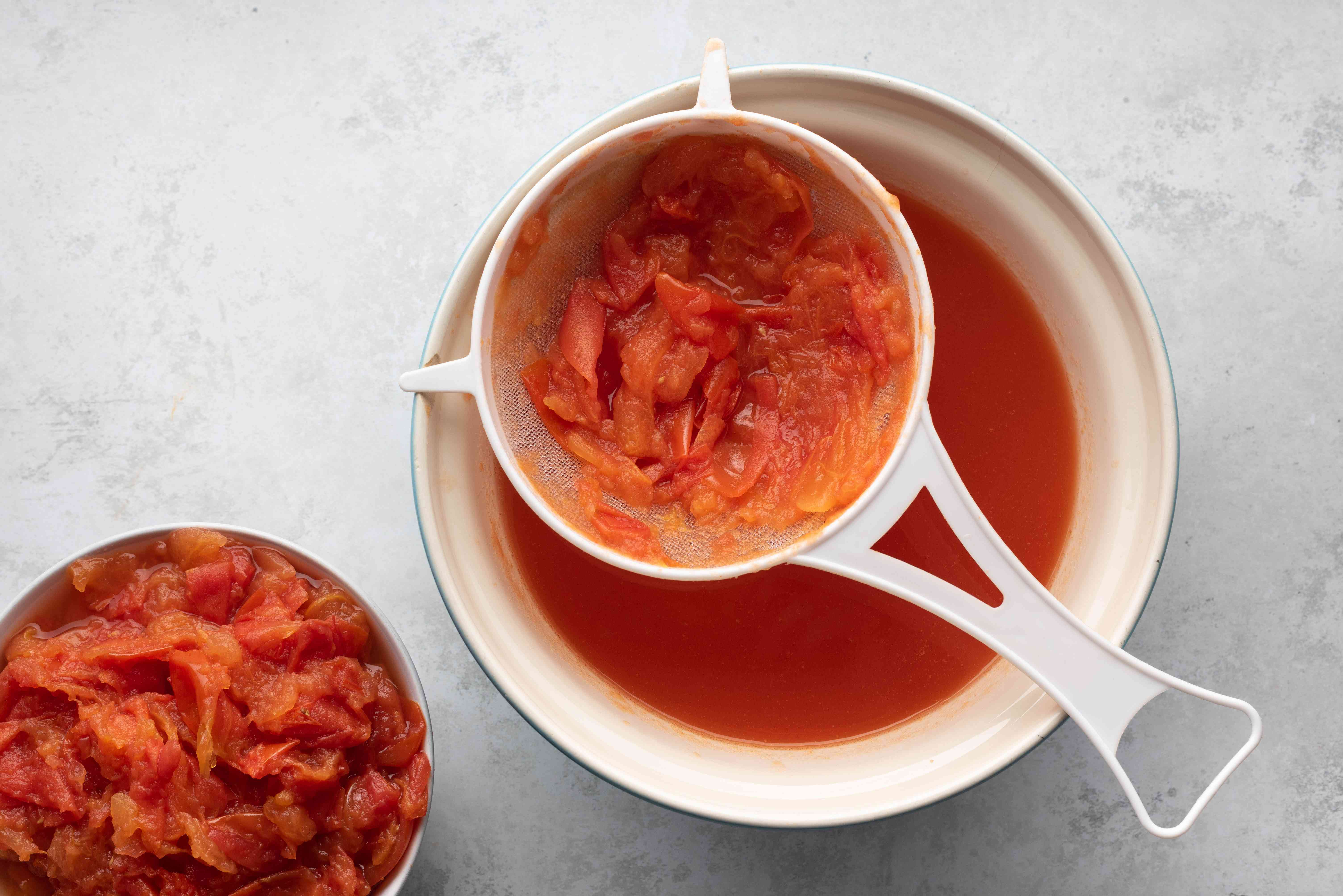 tomatoes passed through a strainer