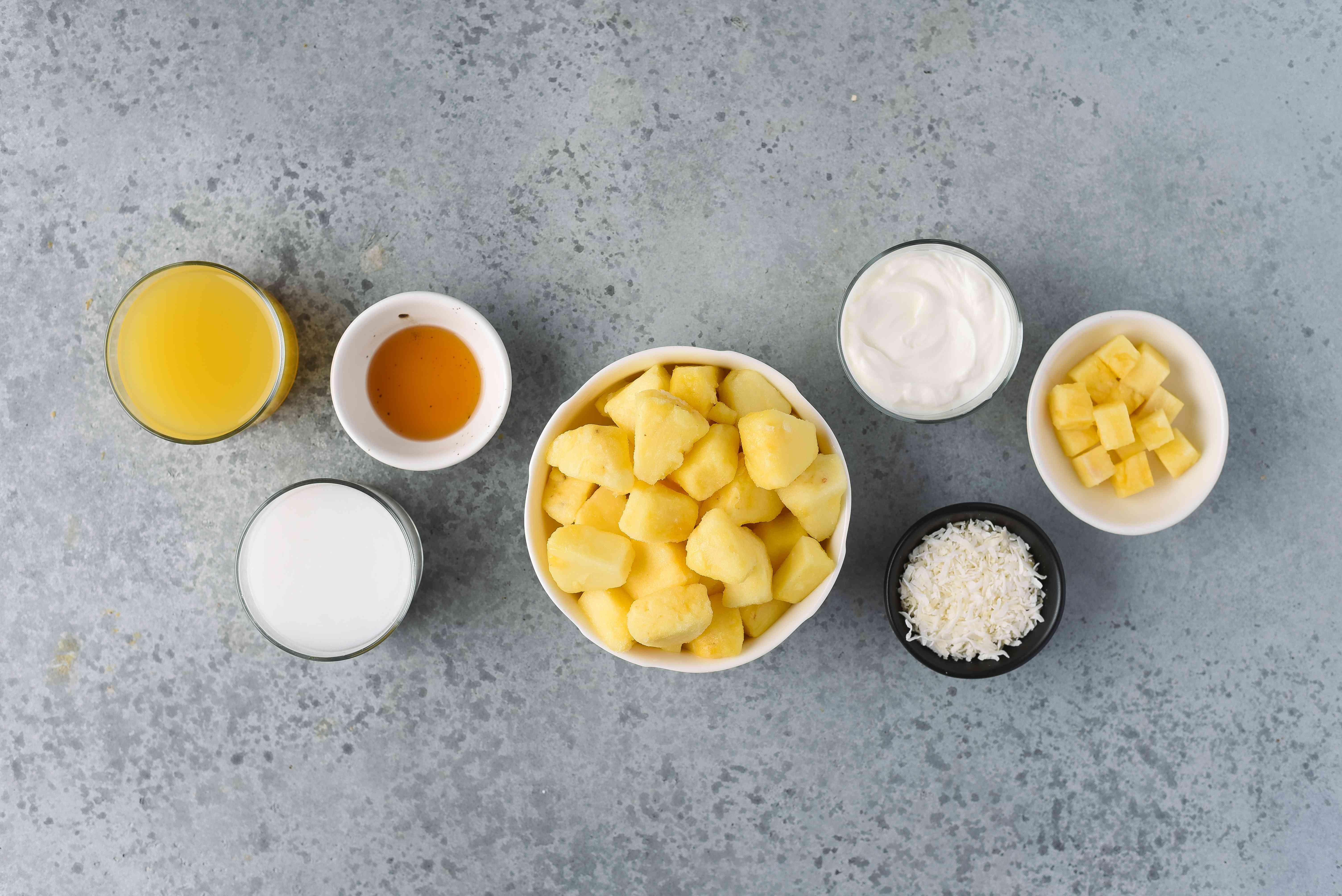 Pineapple Coconut Smoothie ingredients