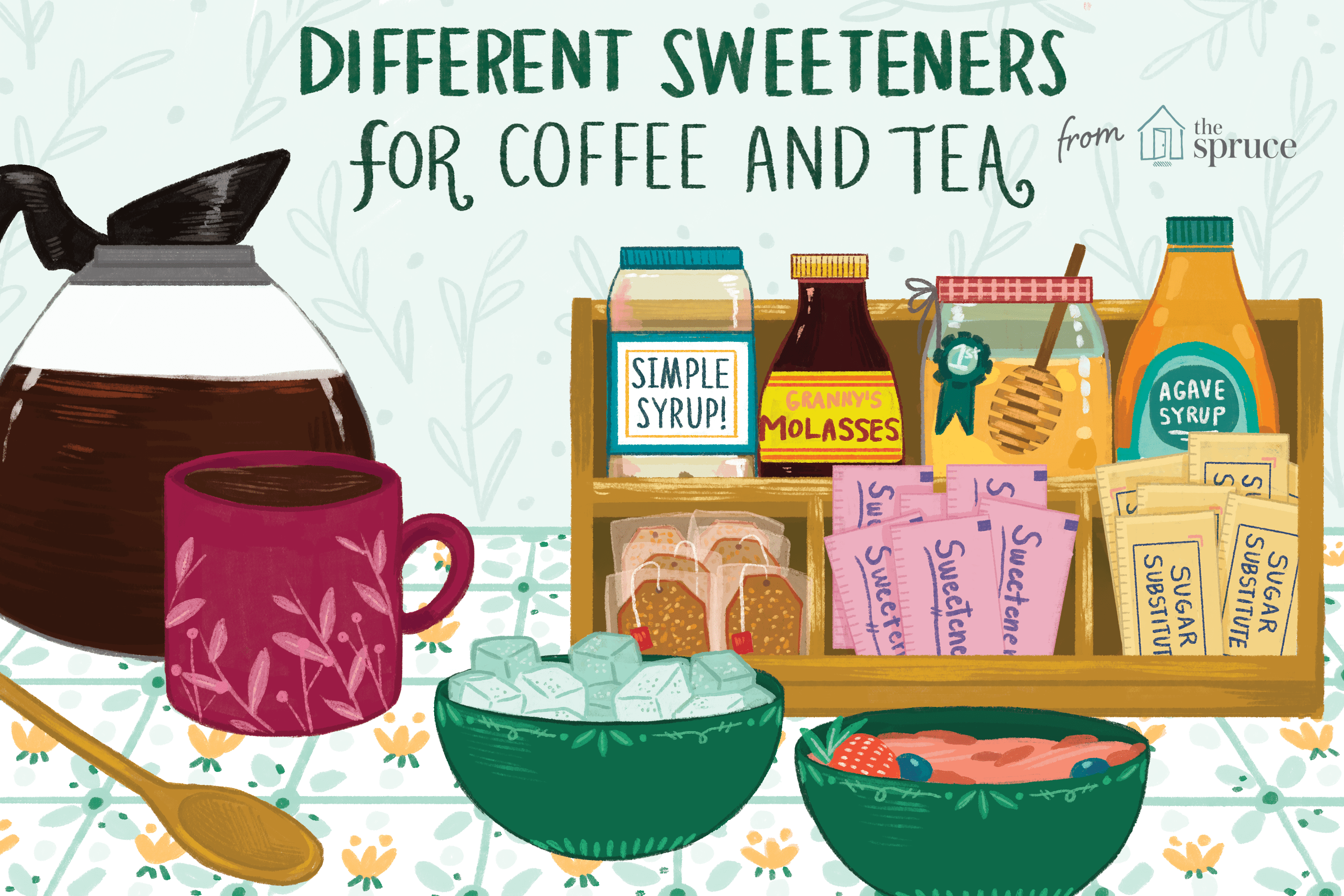 different sweeteners for coffee and tea