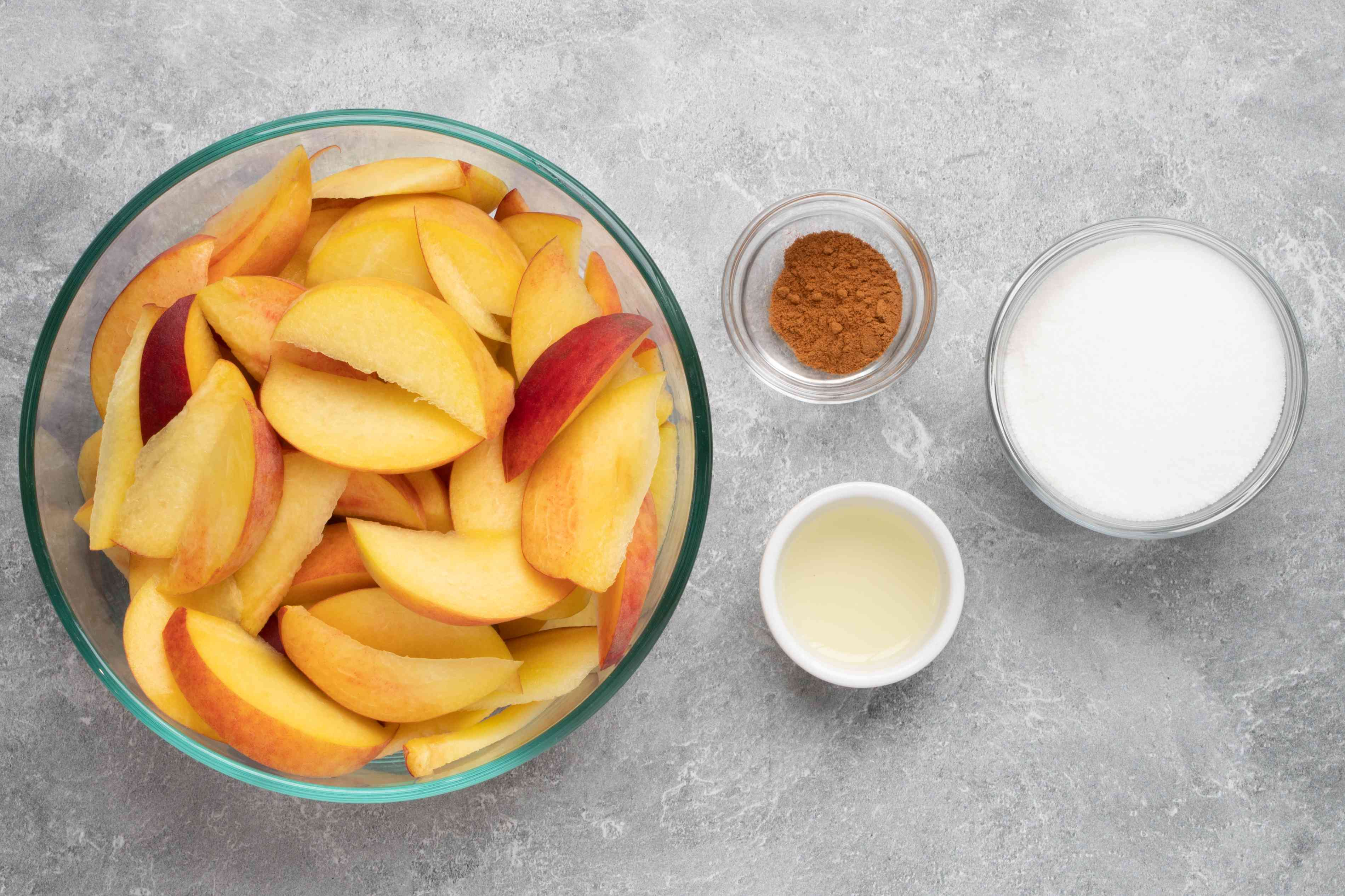 ingredients for peach cobbler filling