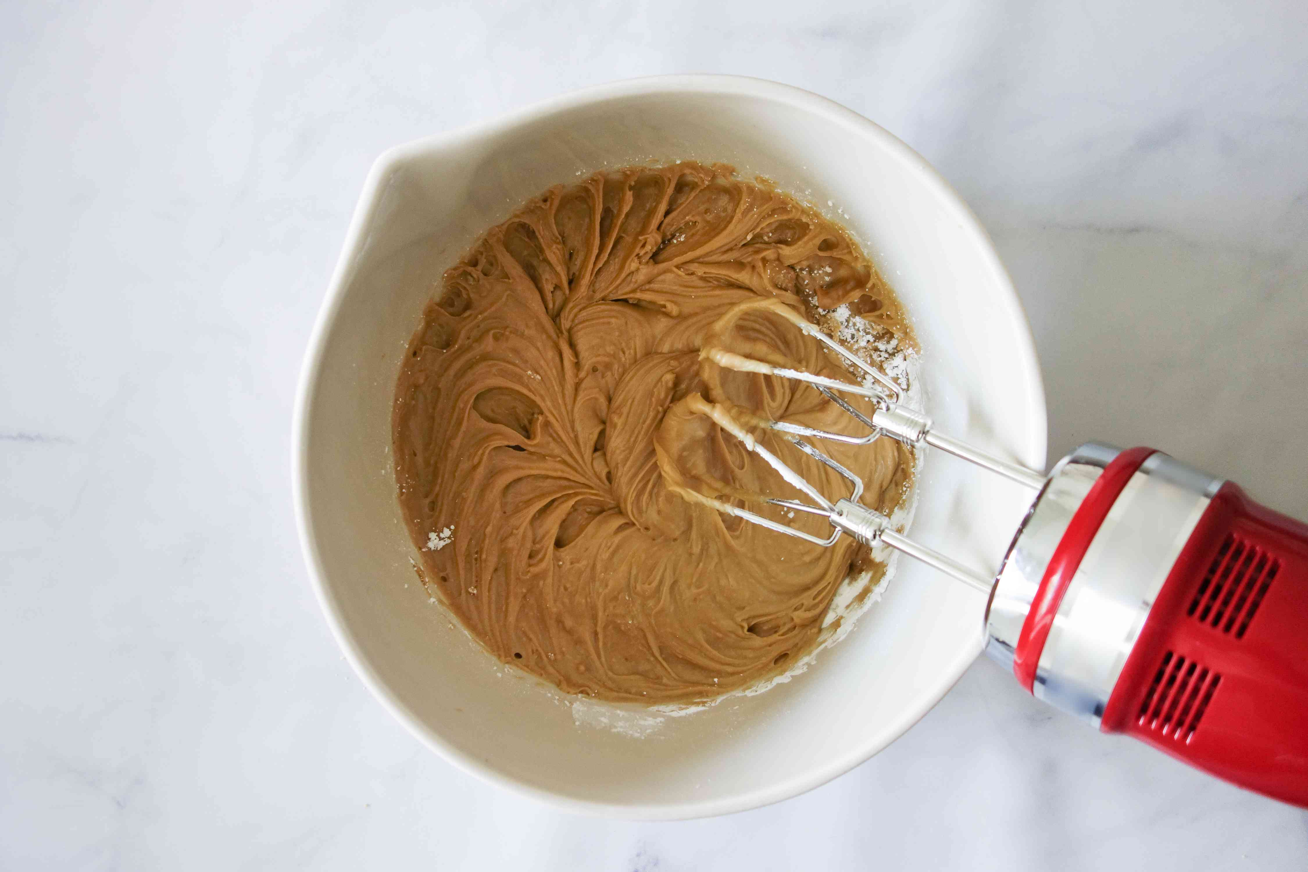 beat the maple frosting ingredients together