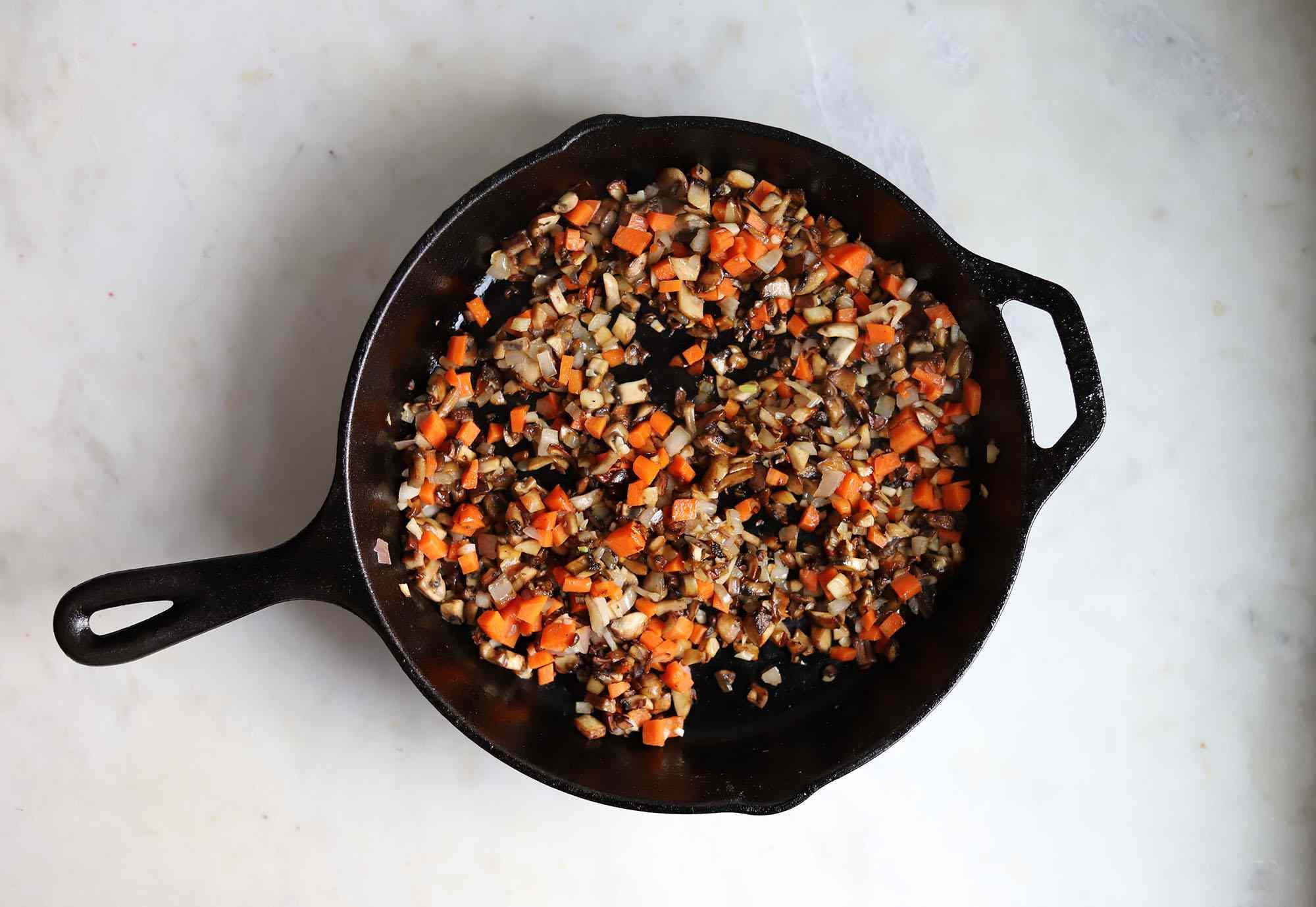 sauteed carrots and mushrooms