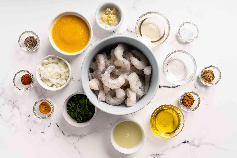 Easy Caribbean Island Lime Shrimp ingredients