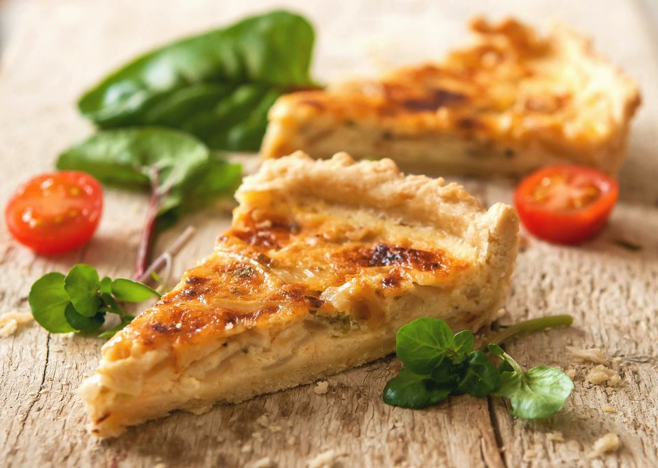 Cheese and Onion Flan