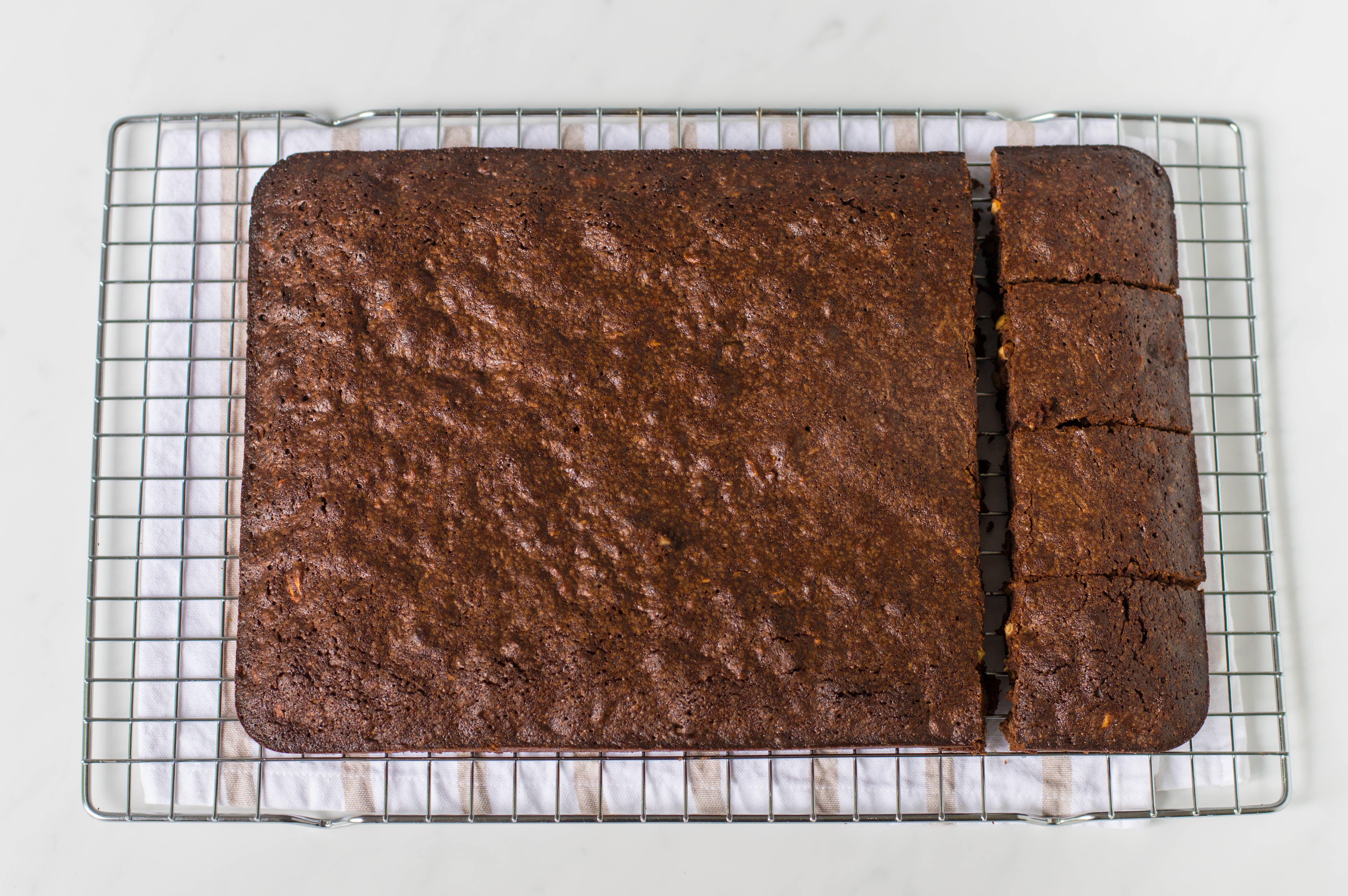 Chocolate Fudge Brownies on cooling rack