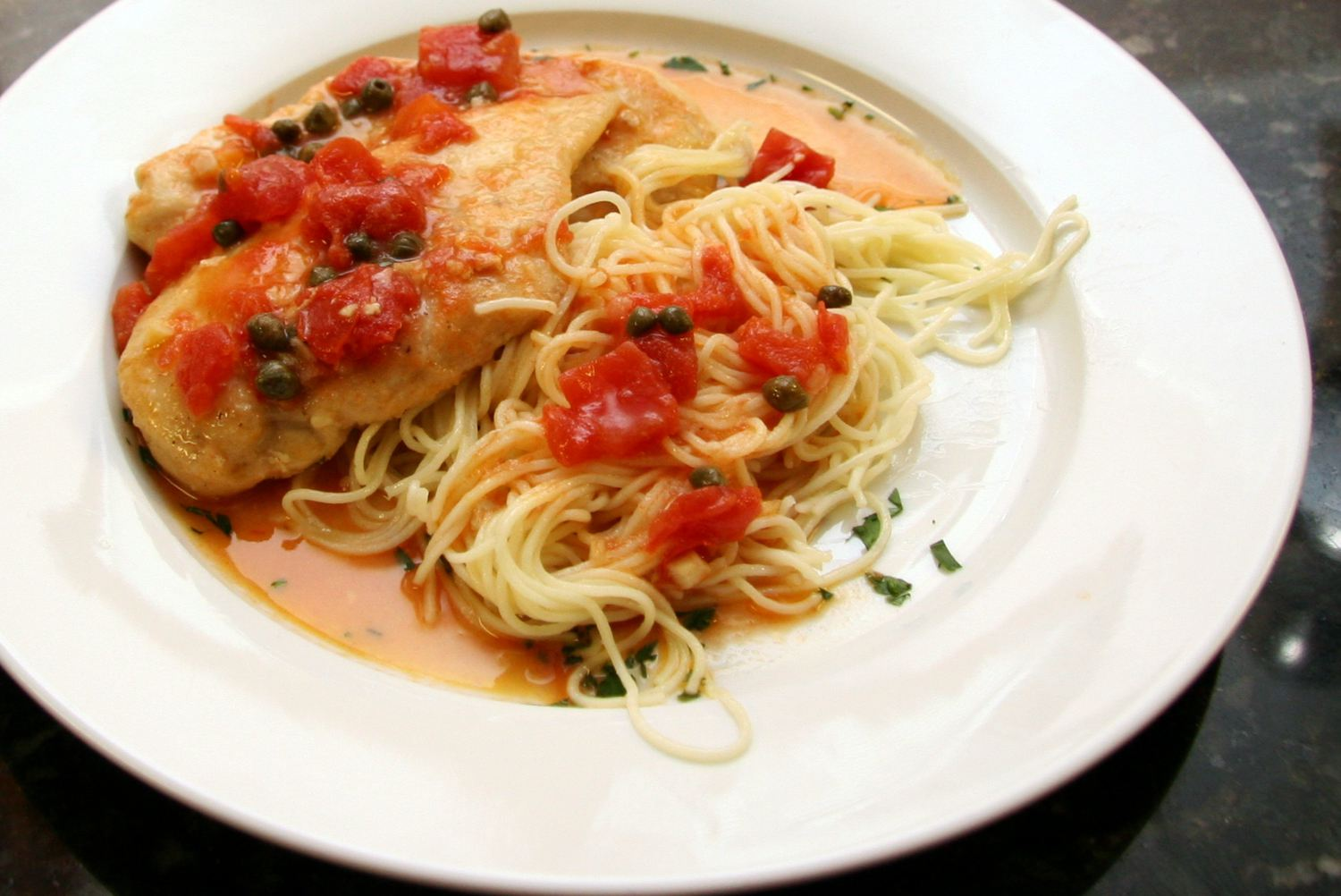 Chicken Breasts with Tomatoes and Capers