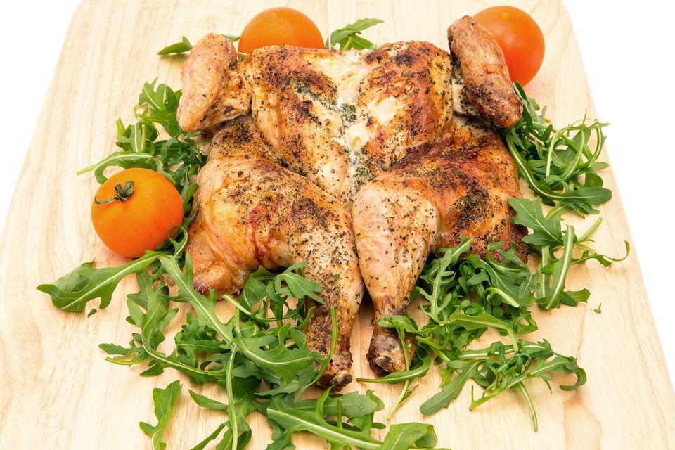 pollo asado al horno picante asado