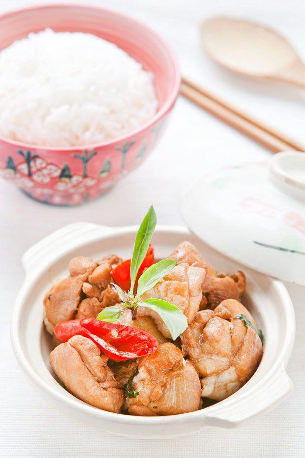 Receta de tres tazas de pollo Sanbeiji