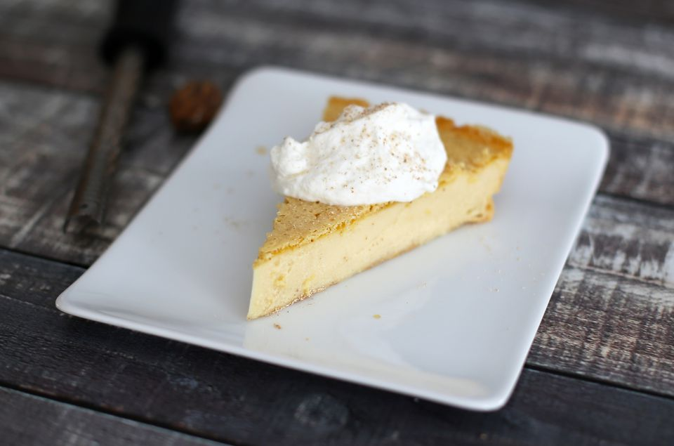 no-crust custard pie