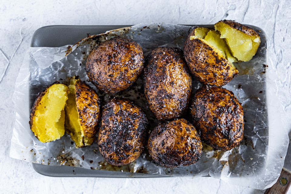 BBQ Smoked Baked Potatoes