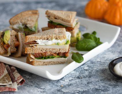 Turkey bacon avocado club sandwich recipe
