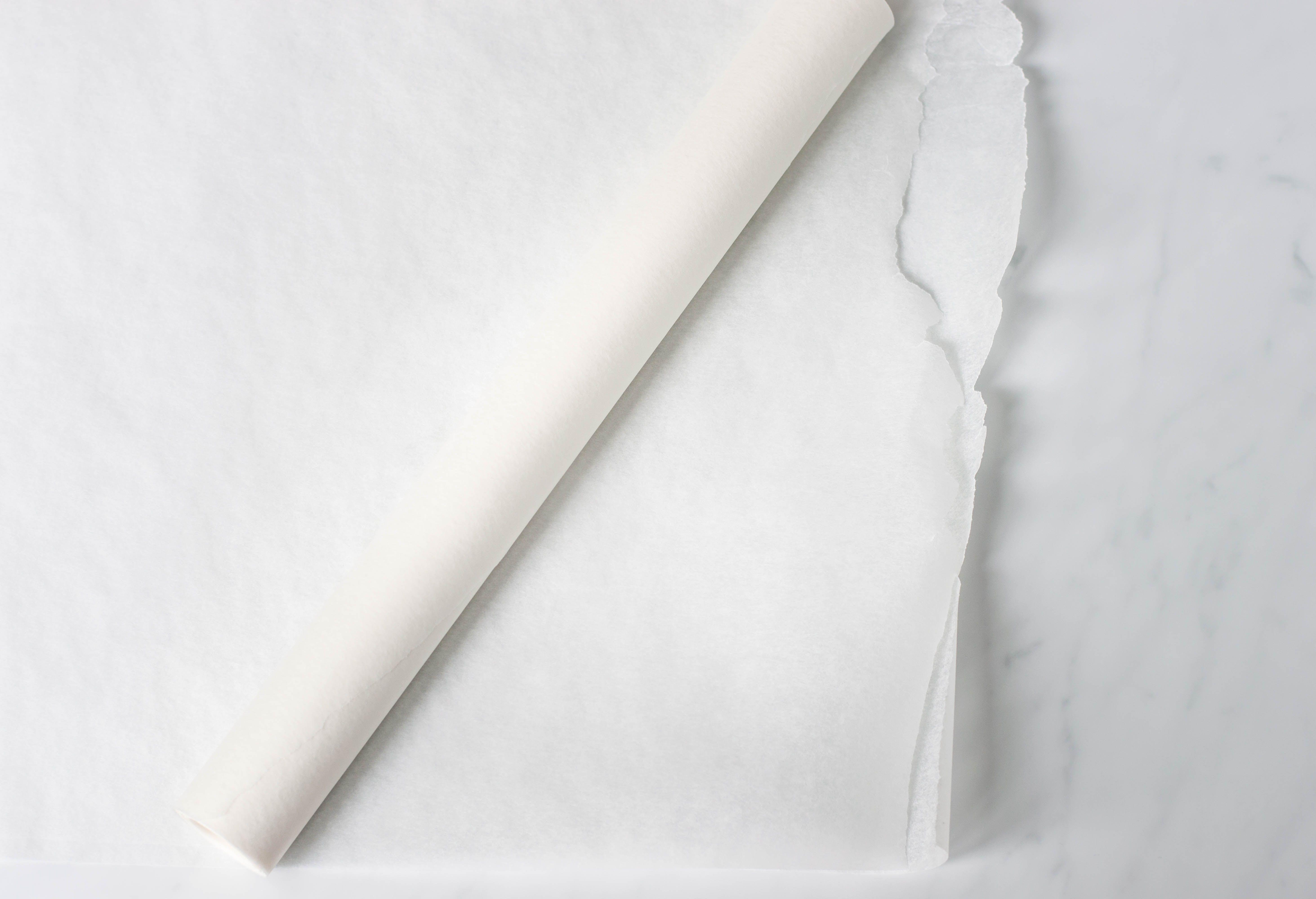 Wax paper on countertop