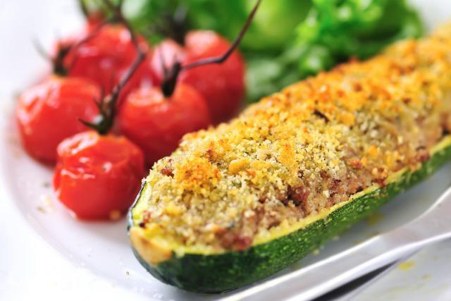 Stuffed Zucchini with Sausage